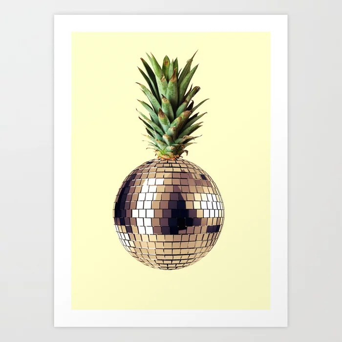 Sunday's Society6 pineapple party disco ball