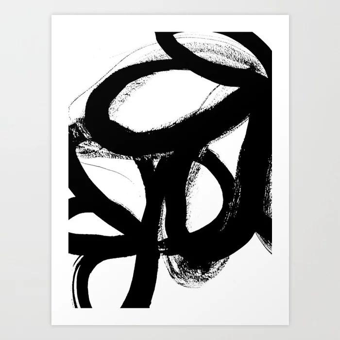 Sunday's Society6 | Art print black and white painting