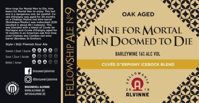 Alvinne Nine for Mortal Men Doomed to Die