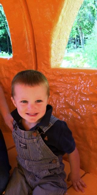 inside pumpkin