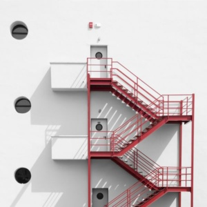 покраска пожарной лестницы