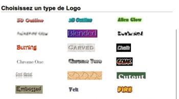 Générateur Graphique et Logo avec Cool Text