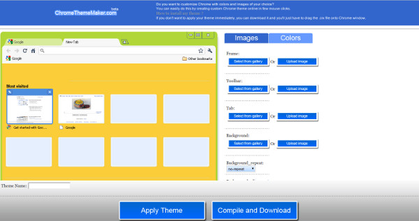 Créer son thème pour le navigateur web Google Chrome