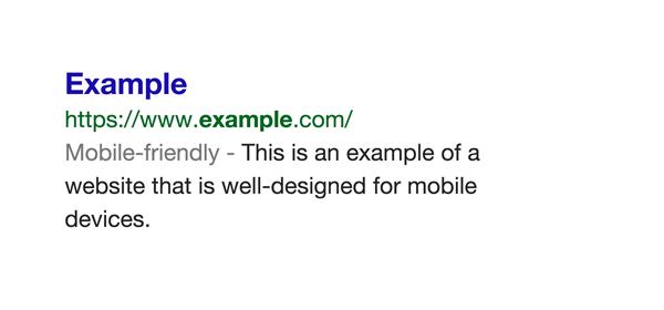 Google, affichage des sites optimisés pour mobile