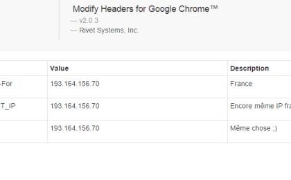 Modifier Adresse IP