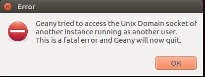Comment résoudre l'erreur durant le démarrage de Geany (Linux)