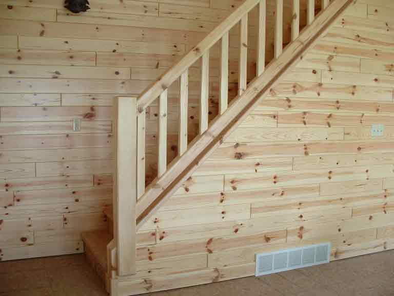 Log Stairs And Half Log Stairways
