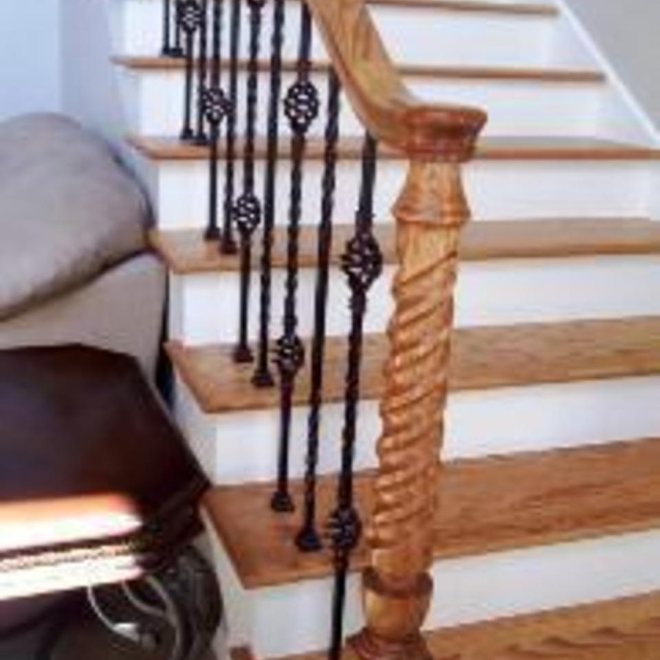 Roper Hardwood Floors Stairs Balusters – Handrails – Tulsa Ok   Cost Of New Banister And Spindles   Chris Loves Julia   Stair Parts   Stair Treads   Paint   Iron Stair