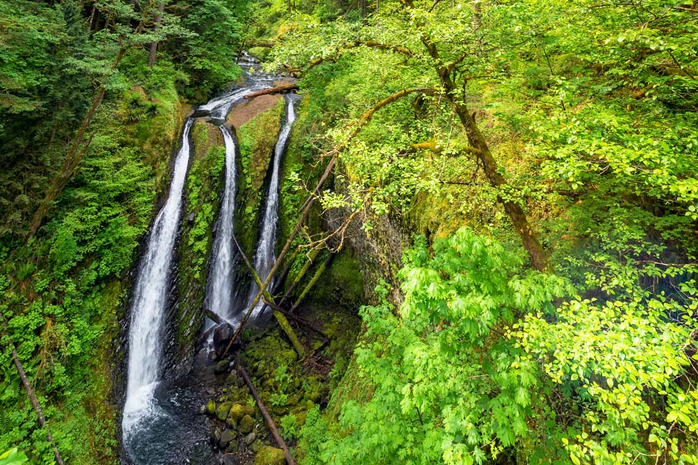 spring waterfall hikes triple falls