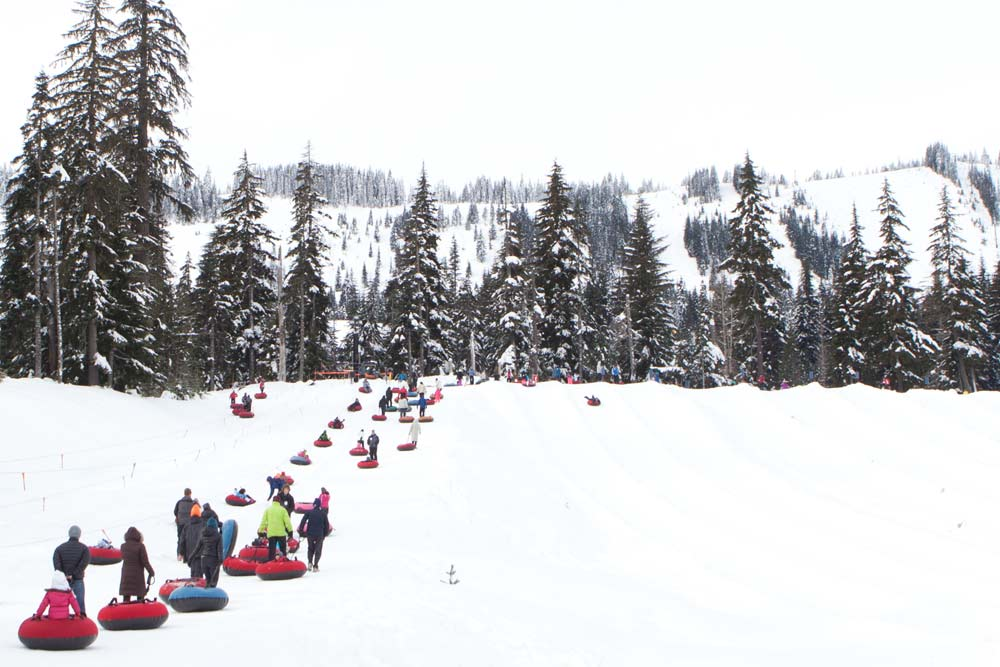 sledding near seattle