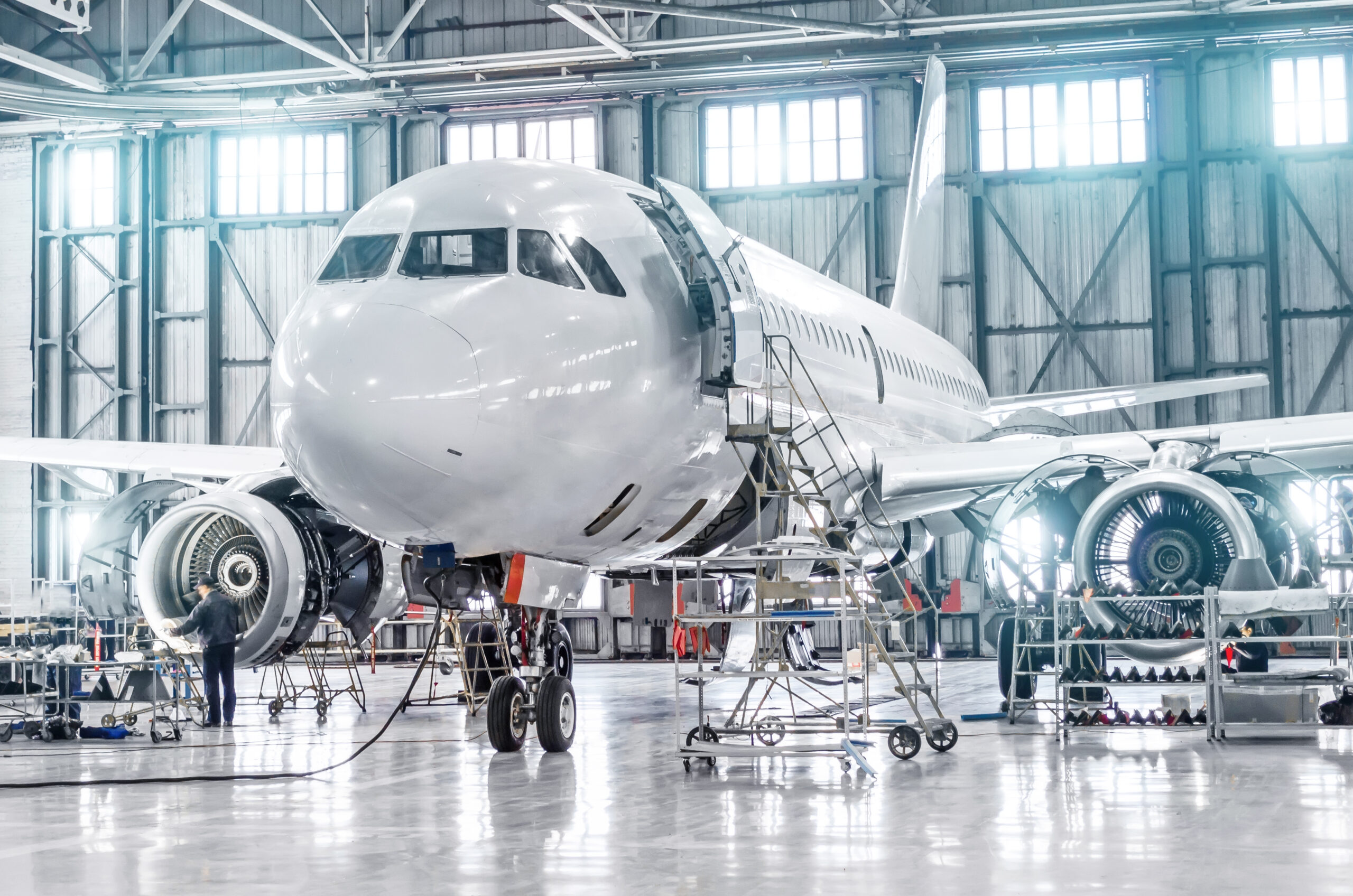 Commercial aircraft maintenance inspection