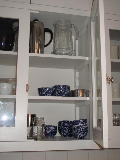 Colonial Revival Kitchen Shelves