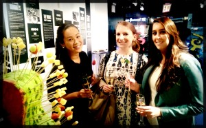 Girls'night out with wine, cheese and art.