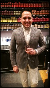 Juan Carlos Cedeno from Cremieux sporting a suave jacket