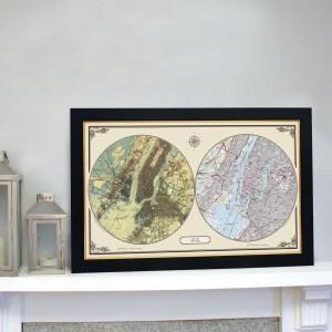 US Duo Century New york history mapping