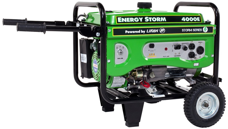 Lifan 4000E Watt 7HP Portable Generator Electric Start