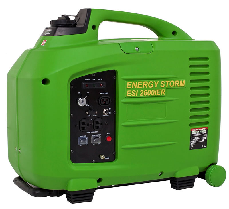 Lifan ESI 2600IiER 5 HP Digital Power Invertor Generator with Remote Electrical Start, Portability Kit