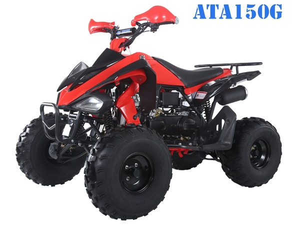 50cc, Sport Body, Automatic w/ Reverse, Electric Start, Front Drums, Rear Disc, Rear Rack