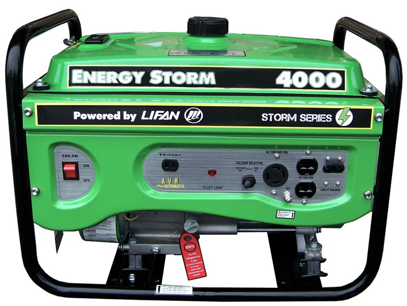 Lifan 4000 Watt 7HP Portable Generator Recoil Start