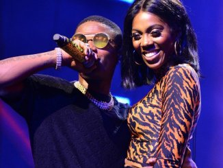 Wizkid And Tiwa Savage Kiss On <strong>Stage During StarboyFest In Paris