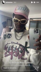 Rema Publicly Flaunts His New Diamond VVS Chain Worth N15 Million (See Photos)