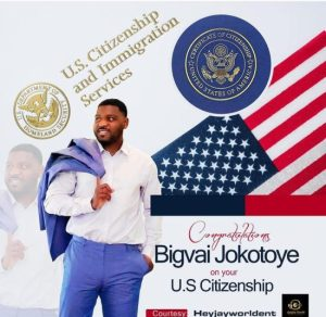 Actor Bigvai Jokotoye becomes citizen of the United States of America (video)