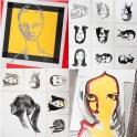 """autor: Alina Manole titlu: """"Autoportrete"""" tehnica: acrilic/panza dimensiune: 120/120 cm"""
