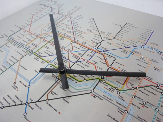 the clock factory   Official London Underground Tube Map Clock Original london underground tube map clock 4 300x300