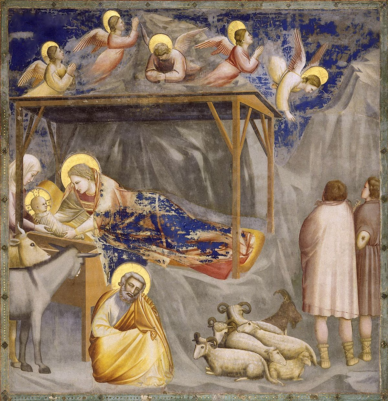 Giotto Di Bondone Nativity Of Our Lord Christ Cappella