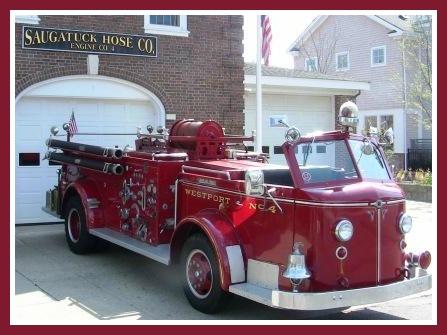 The Saugatuck firehouse -- one small part of Westport's superb Fire Department.