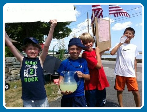 Last summer, kids living near Compo set up a lemonade stand. In 4 days, they raised over $500 for the Hole in the Wall Gang.