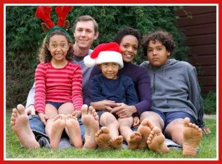Art, Kim and their 3 children, 4 Christmases ago.