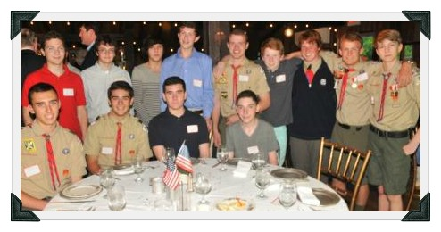 A small group of the many Boy Scouts who honored Jack Berry.