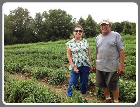 Connie and Greg Belta, in the field.