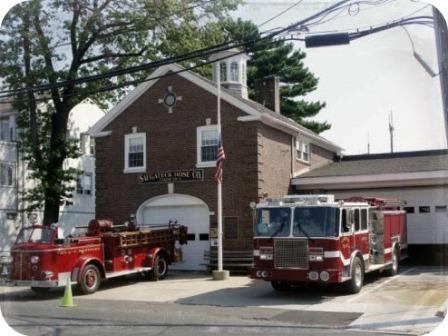The Saugatuck fire station, in its long-time location on Riverside Avenue.