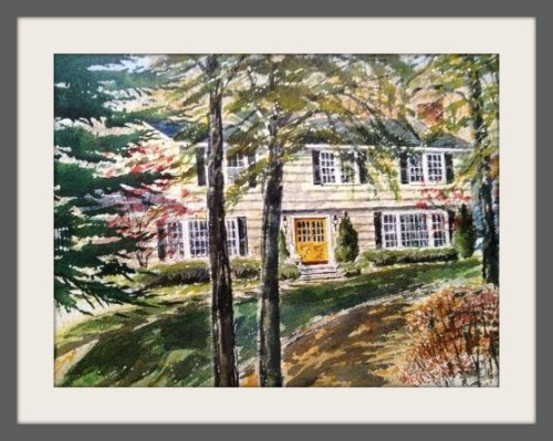 Al Willmott painted his 6 Riverfield Drive home in 1989.