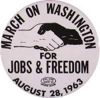 March on  Washington button