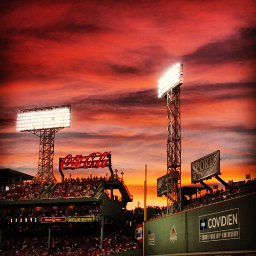 "Most Artistic honorable mention, ""Fenway Park,"" Drew Tassel, 17."