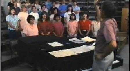 George Weigle conducts the Staples Orphenians. They sound great in the video.