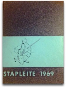The 1969 Staples yearbook.