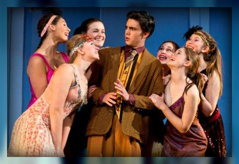 Nick Ribolla as Jimmy  Smith, surrounded by the ladies of the Hotel Priscilla. (Photo/Kerry Long)
