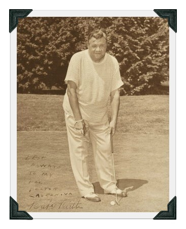 Babe Ruth at Longshore. (Photo courtesy of Norwalk Hour)