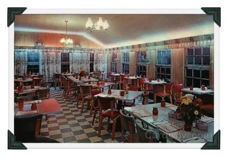 Inside La Normandie restaurant. (Photo courtesy of CardCow.com)
