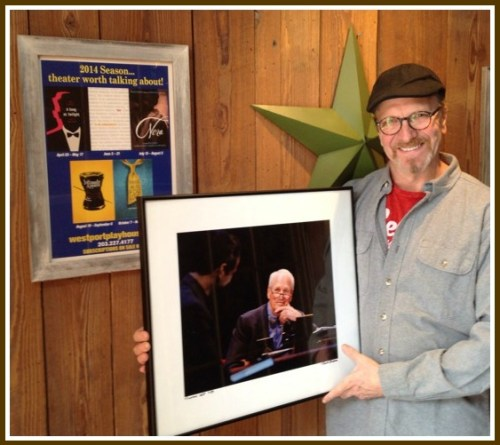 Michel Nischan at the Dressing Room, with a portrait of co-founder Paul Newman.