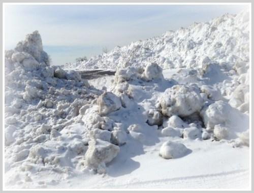 Compo Beach snow