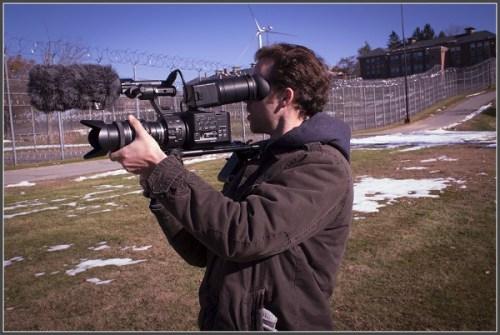 Brean Cunningham, at work in the Massachusetts prison.