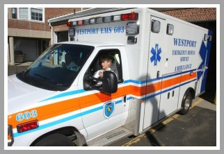 Westport EMS has 3 ambulances. They are shiny on the outside -- and very impressive inside.