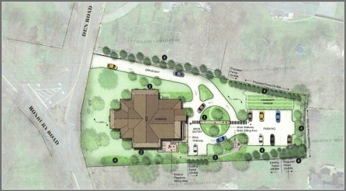 A rendering of Fairfield County's planned hospice.