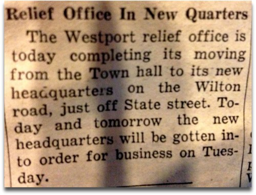 Speaking of relief efforts: The Relief Office was moving to new quarters. You'd think that would be bigger news.