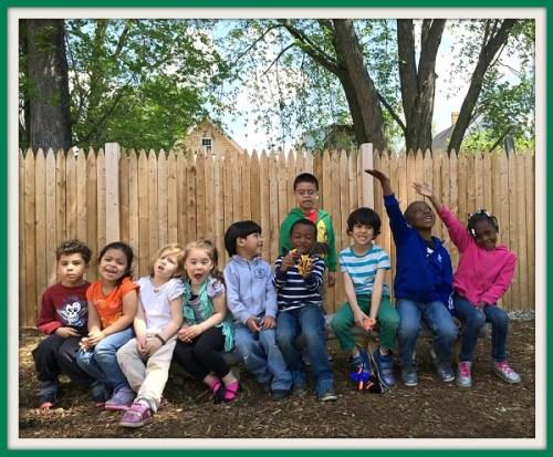 Some very happy Adam J. Lewis preschoolers.